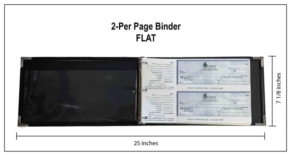 2 Up Binder Open SPECS