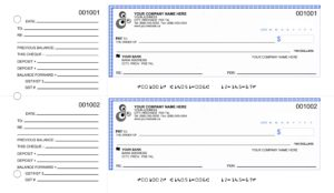 Manual Cheques with Black & White Logo Added