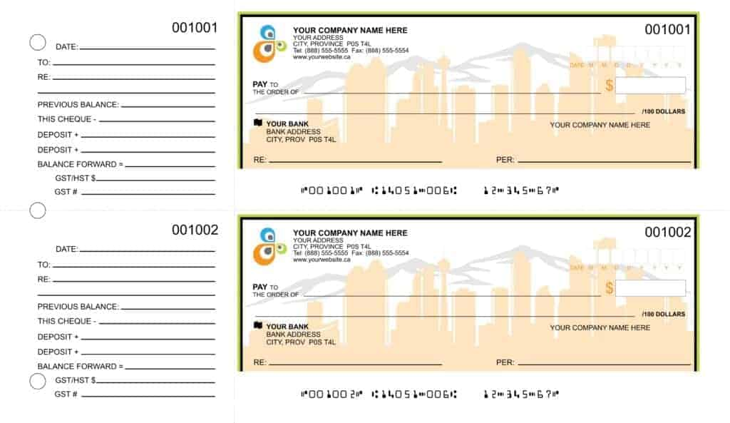 Full Custom Manual Cheques