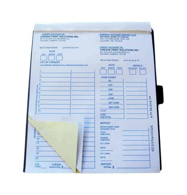 2-Part Large Deposit Book