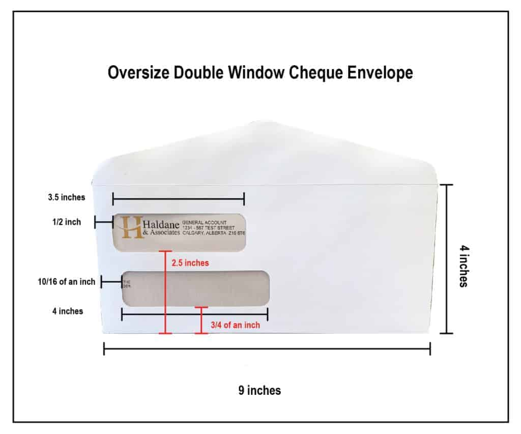 Oversize Double Window Envelope SPECS