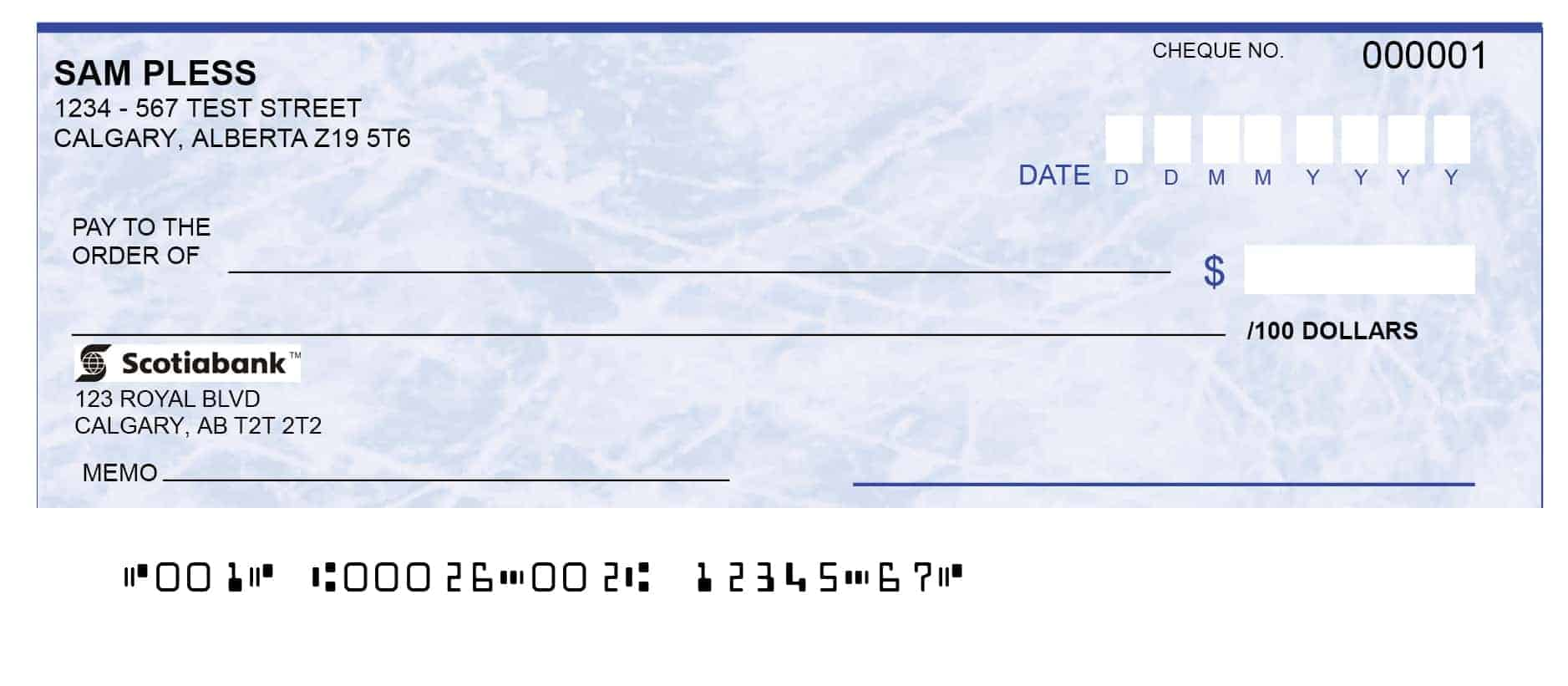 Canadian Cheque Account Number Cheque Print Blog