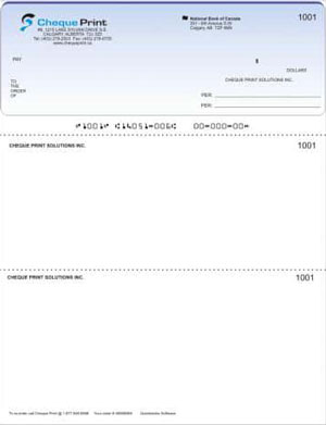 Regular Laser Top Cheque
