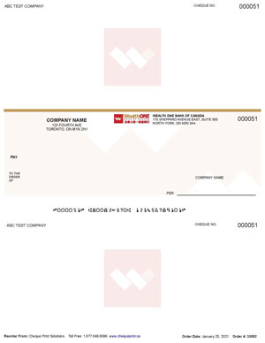 WealthONE Laser Cheques by Cheque Print